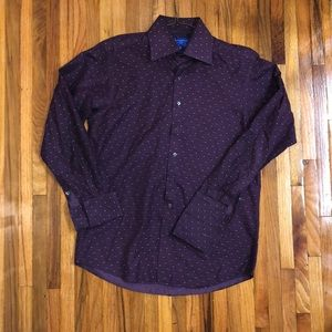Grosvenor dress shirt made in UK 15.5R is 100% cot
